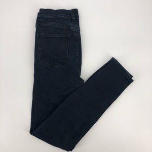 J. Crew Hi-Rise Slim Stretch Dark Wash Ankle Jeans